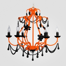 Sonja Neon Orange Black Crystal Chandelier