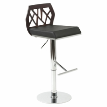 Sophia Bar and Counter Stool in Wenge and Black and Chrome