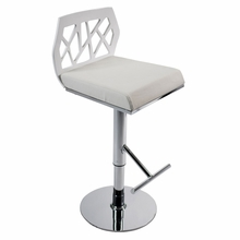 Sophia Bar and Counter Stool in White and Chrome