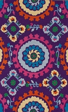 Soraya Whimsical Rug in Purple