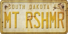 South Dakota Custom License Plate Art