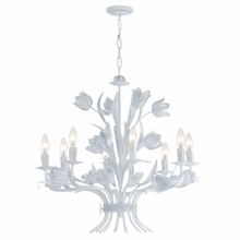 Southport White Tulip Chandelier