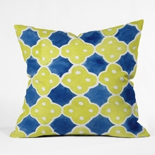Spanish Tiles Throw Pillow