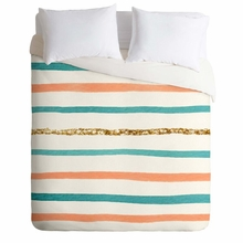 Sparkle Stripe Lightweight Duvet Cover