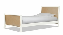 Sparrow Twin Bed in White and Birch