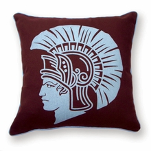 Spartan Reversible Throw Pillow in Burgundy