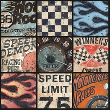 Speedway Racing Collage Canvas Wall Art