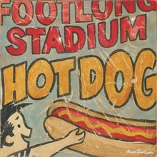 Sports Stadium Hot Dog Canvas Wall Art