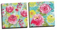 Spring Fling Medley I, II Canvas Wall Art Set