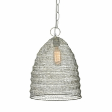 Spring Weave Beehive Pendant in Cream