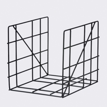 Square Magazine Rack in Black
