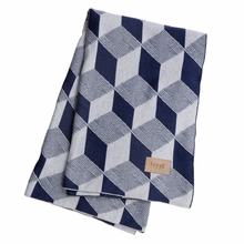 Squares Throw Blanket in Blue