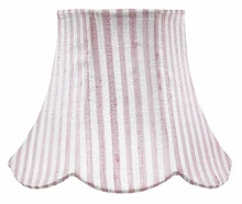 On Sale Squash Scallop Small Shade in Pink Stripe