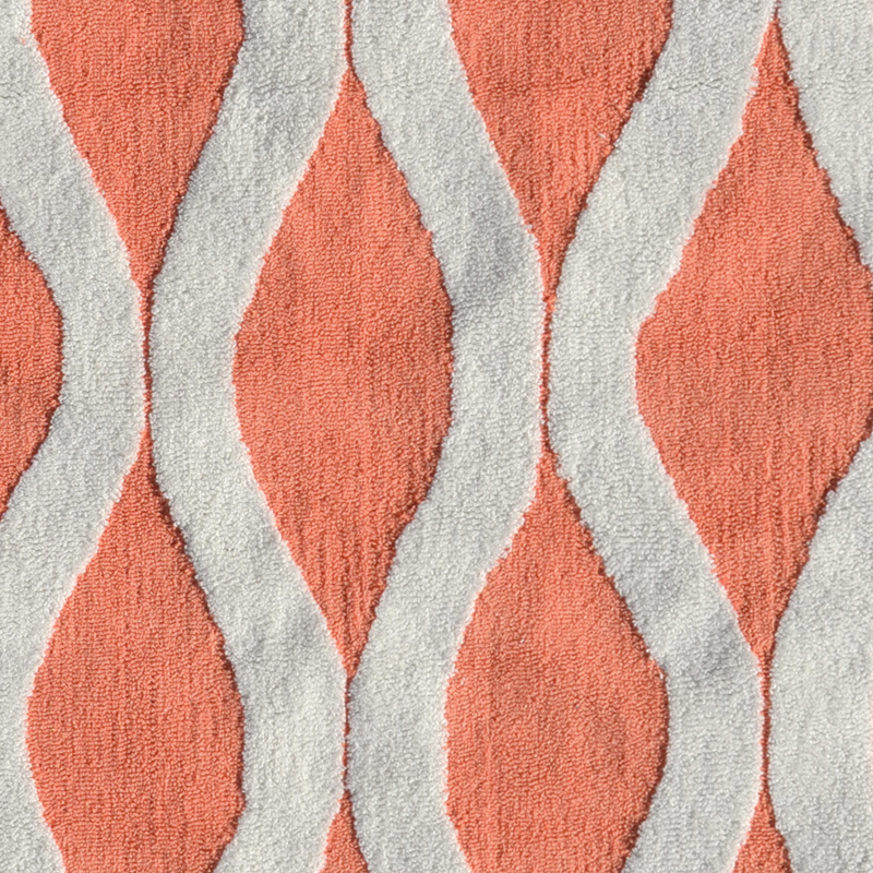High Quality Squiggle Coral Rug
