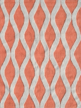 Squiggle Coral Rug