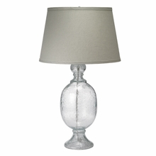 St Charles Small Table Lamp in Seeded Glass