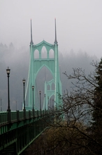 St. Johns Bridge Cloudy Sky I Wall Art