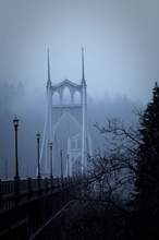 St. Johns Bridge Dusk I Wall Art