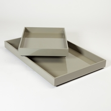Stack Trays in Medium Grey