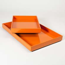 Stack Trays in Orange