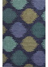 Static Dot Rug in Blue