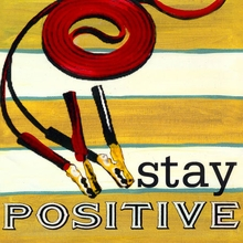 Stay Positive Canvas Art