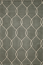 Steel Gray Links Bliss Rug
