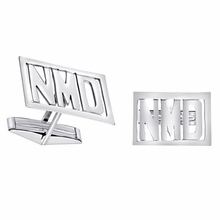 Sterling Silver Monogram Cuff Links - Block