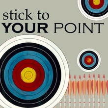 Stick to Your Point Canvas Art