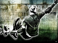 Street Skater Mural Wall Decal