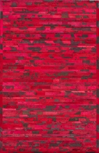 Stripe Cowhide Rug in Red