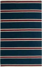 Striped Flat Weave Rug in Navy