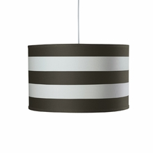 Striped Large Cylinder Pendant Light in Tree Trunk Brown