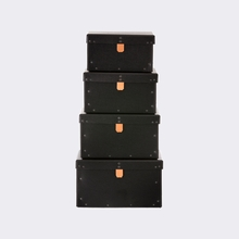 Studded Storage Boxes in Black