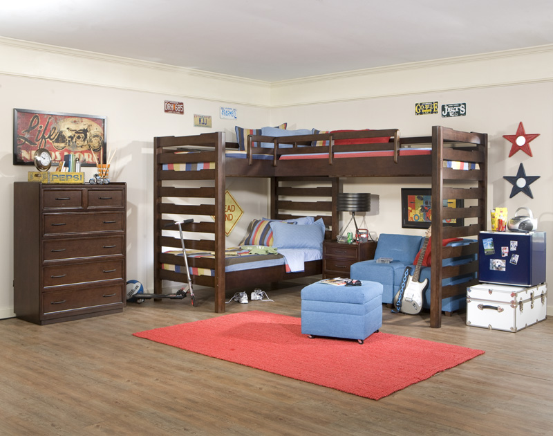 Triple Corner Bunk Beds 800 x 630