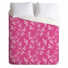 Suki Leaf Pink Lightweight Duvet Cover