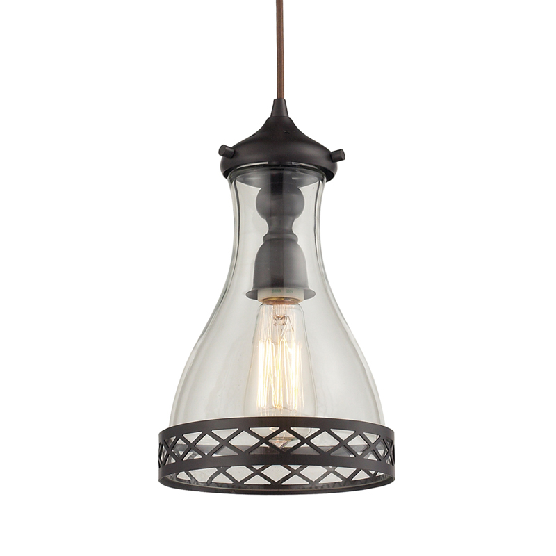 district17 summer cottage pendant in oiled bronze