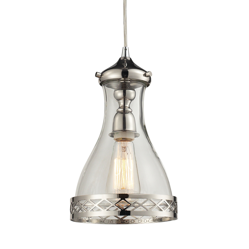 district17 summer cottage pendant in polished nickel
