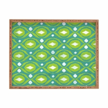 Summer Green Ikat Rectangle Tray