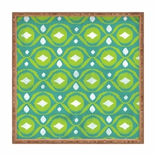 Summer Green Ikat Square Tray