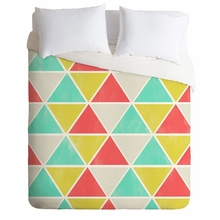 Summer Triangles Lightweight Duvet Cover