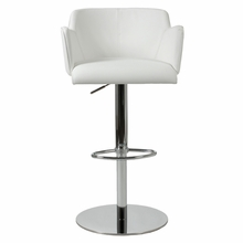 Sunny Bar and Counter Chair in White Leatherette and Chrome
