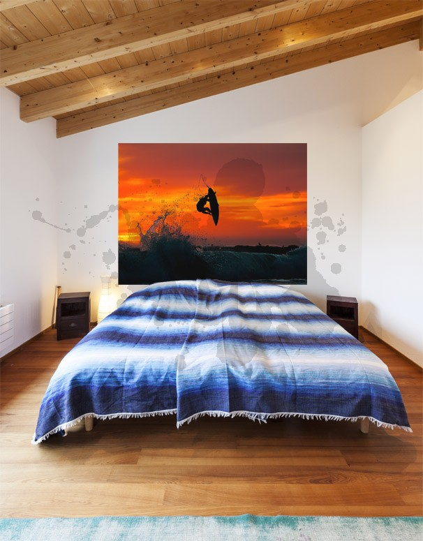 Sunset Surf Mural Wall Decal