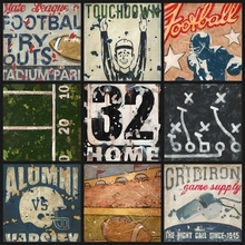 Super Bowl Bound Football Collage Canvas Wall Art