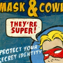 Superhero Mask and Cowl Canvas Wall Art