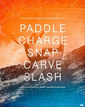 Surf Action Poster Wall Decal