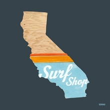 Surf Shop Poster Wall Decal
