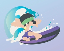 Surfer Boy Canvas Wall Art