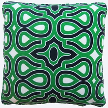Swirl Green Throw Pillow