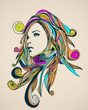 Swirly Girly Canvas Wall Art